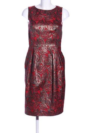 Hallhuber Donna Midikleid rot-schwarz Elegant