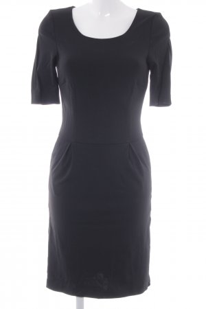 Hallhuber Donna Midikleid schwarz schlichter Stil