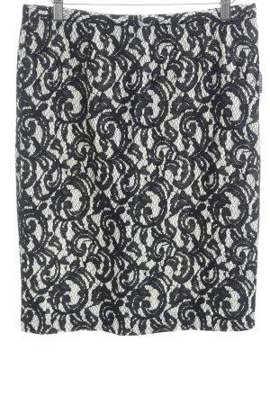 Hallhuber Donna Minirock schwarz-wollweiß abstraktes Muster klassischer Stil