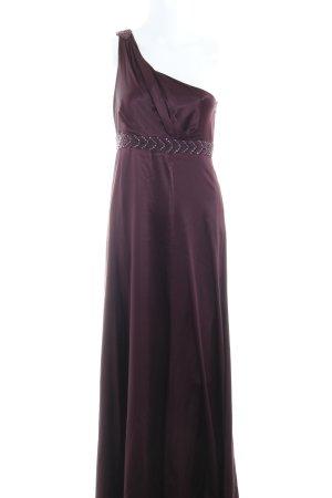 Hallhuber Donna One-Shoulder-Kleid brombeerrot Elegant