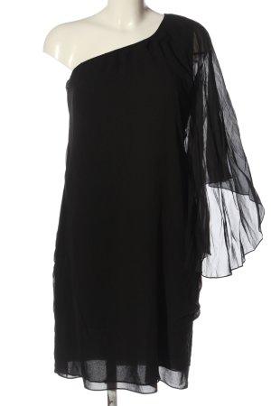 Hallhuber Donna Vestido de un hombro negro estilo extravagante