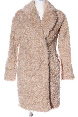 Hallhuber Donna Futrzany płaszcz kremowy W stylu casual