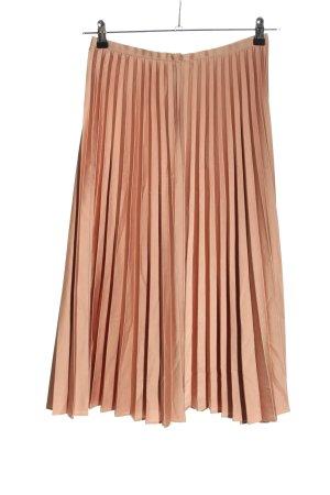 Hallhuber Donna Jupe plissée rose chair polyester
