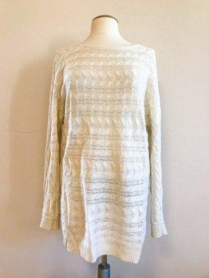 Hallhuber Donna Pullover, Oversized Pullover, cremeweiß, Gr. 40 / L