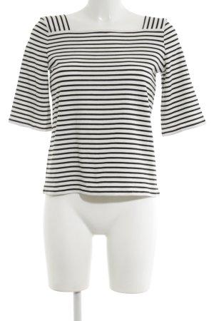 Hallhuber Donna Ringelshirt weiß-schwarz Streifenmuster Casual-Look