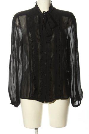 Hallhuber Donna Rüschen-Bluse schwarz Elegant