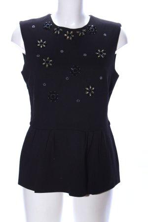 Hallhuber Donna Top met franjes zwart casual uitstraling