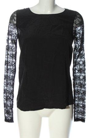 Hallhuber Donna Slip-over Blouse black casual look