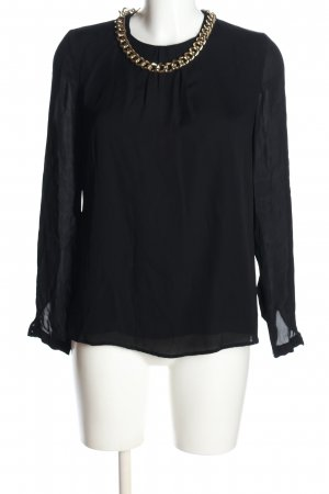 Hallhuber Donna Schlupf-Bluse schwarz Elegant