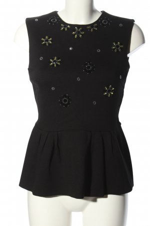 Hallhuber Donna Top peplum negro look casual