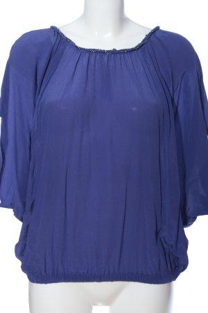 Hallhuber Donna Seidenbluse blau Casual-Look