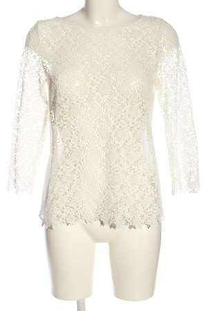 Hallhuber Donna Lace Blouse cream casual look