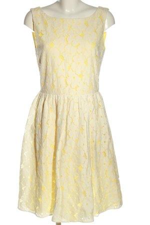 Hallhuber Donna Spitzenkleid blassgelb-wollweiß Blumenmuster Casual-Look