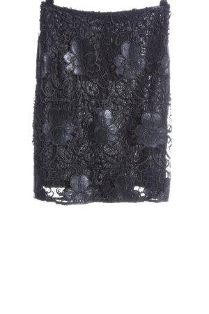 Hallhuber Donna Spitzenrock schwarz extravaganter Stil