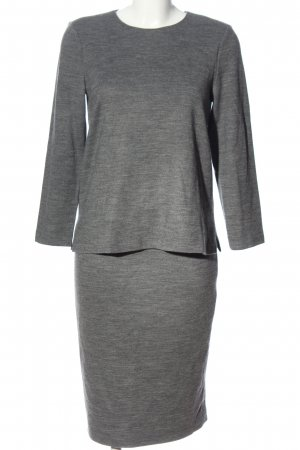 Hallhuber Donna Twin Set punto gris claro moteado look casual