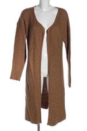 Hallhuber Donna Manteau en tricot bronze Motif de tissage style décontracté