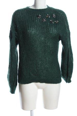 Hallhuber Donna Strickpullover grün Casual-Look