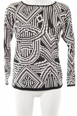 Hallhuber Donna Sweatshirt schwarz-weiß Mustermix Casual-Look