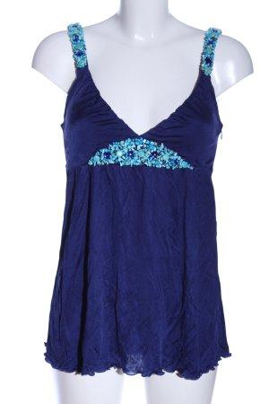 Hallhuber Donna Tanktop blauw casual uitstraling