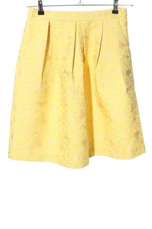 Hallhuber Donna Spódnica z koła bladożółty Tkanina z mieszanych włókien