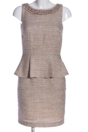 Hallhuber Donna Trägerkleid creme-braun meliert Elegant