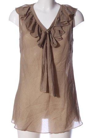 Hallhuber Donna Transparenz-Bluse braun Casual-Look