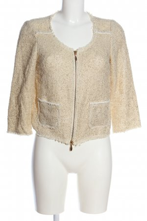 Hallhuber Donna Between-Seasons Jacket cream-gold-colored allover print