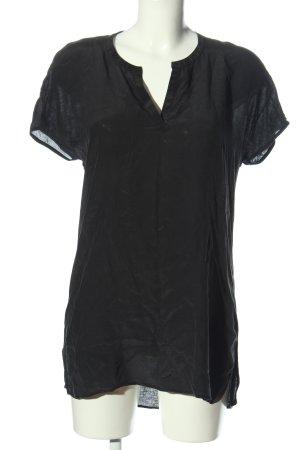 Hallhuber Donna V-Neck Shirt black casual look