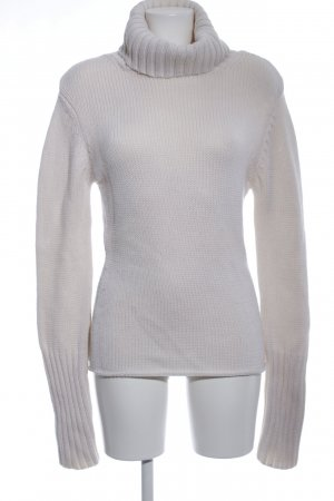 Hallhuber Donna Wollpullover creme Zopfmuster Casual-Look