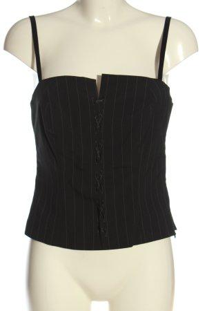 Hallhuber essentials Haut type corsage noir-gris clair motif rayé