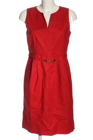 Hallhuber Vestido ceñido de tubo rojo estilo «business»