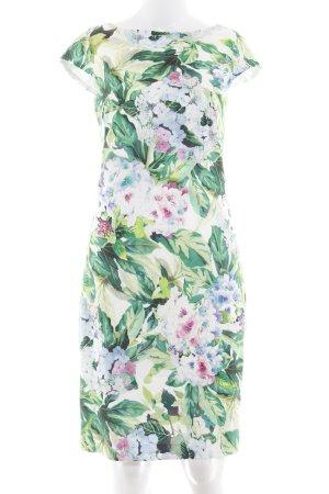 Hallhuber Etuikleid florales Muster Romantik-Look