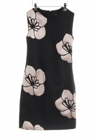 Hallhuber Etuikleid schwarz-roségoldfarben Blumenmuster Elegant