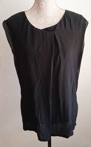 Hallhuber Silk Top black silk