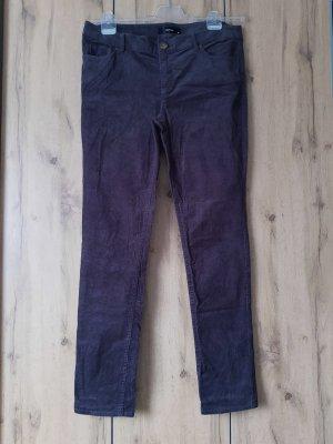 Hallhuber Pantalone di velluto a coste antracite-talpa Cotone