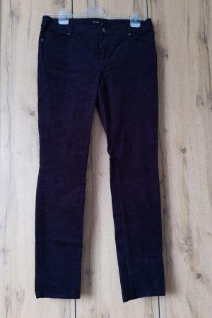 Hallhuber Pantalone di velluto a coste nero Cotone