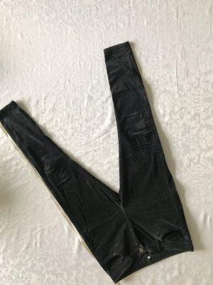 Hallhuber Pantalón de pana gris antracita
