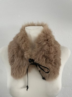 Hallhuber Futrzana kurtka szaro-brązowy-brązowy