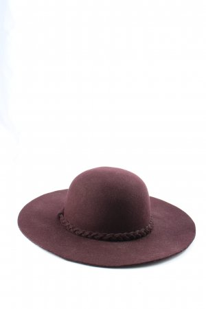 Hallhuber Felt Hat lilac-brown casual look