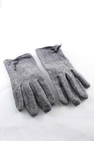 Hallhuber Guantes con dedos gris claro moteado look casual