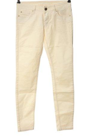 Hallhuber Pantalone cinque tasche crema stile casual