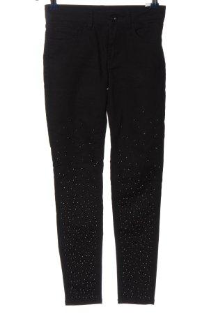 Hallhuber Pantalón de cinco bolsillos negro look casual