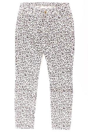 Hallhuber Five-Pocket-Hose Größe 38 weiß aus Baumwolle
