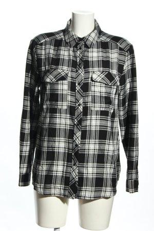 Hallhuber Flannel Shirt black-light grey allover print casual look