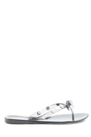 Hallhuber Flip-Flop Sandals black-gold-colored casual look