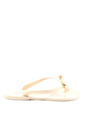 Hallhuber Flip-Flop Sandals cream casual look