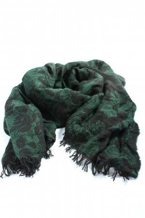 Hallhuber Fringed Scarf green-black casual look