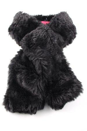 Hallhuber Bufanda de flecos negro look casual