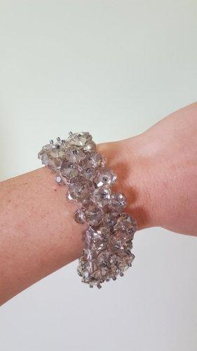 Hallhuber funkelndes Kristall Silber Blumen-Armband TOP