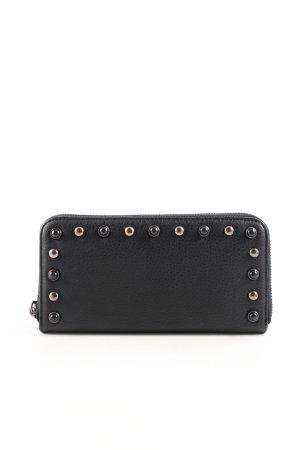 Hallhuber Wallet black-silver-colored casual look